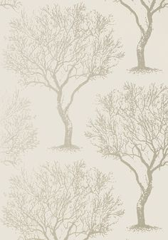 WINFELL FOREST, Silver on Neutral, AT6001, Collection Seraphina from Anna French