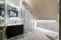 Moderni kylpyhuone, Etuovi.com Asunnot, 55fe7923e4b02889961858b8 - Etuovi.com Sisustus Alcove, Bathtub, Bathroom, Standing Bath, Washroom, Bath Tub, Bathtubs, Bathrooms, Bath