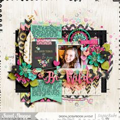 Digital Scrapbook layout featuring Wild Child Collection by Studio Flergs at Sweet Shoppe Designs