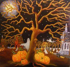 Halloween Art Print Titled  Did you Hear by ChristineAltmannArt, $12.99
