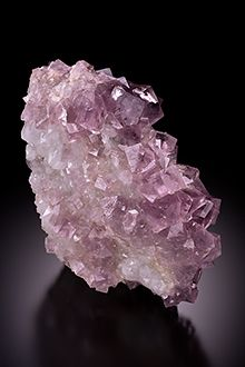 Lavender Fluorite on Quartz - England /  Mineral Friends <3