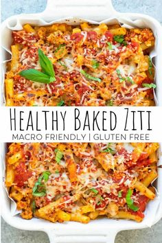 Healthy Baking, Easy Healthy Recipes, Healthy Choice Meals, Baked Ziti Healthy, Healthy Meal Planning, Tasty Healthy Meals, Healthy Pasta Bake, Healthy Pastas, Health Recipes