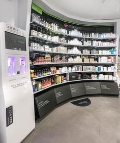 #ecoceutics #pharmacy #viladecans farmàcia vilà #jordifigueroladesign #int-nova… Cosmetic Display, Cosmetic Shop, Pharmacy Store, Interior Fit Out, Retail Space, Commercial Design, British Museum, Retail Design, Visual Merchandising