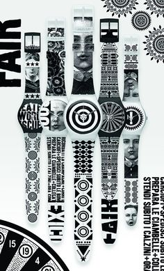 Lorenzo Petrantoni for the Graphic Designers Collection @ Swatch - nice! Vintage Swatch Watch, The Secret History, Beauty Magazine, Designer Collection, Watch Bands, Illustration, Fashion Beauty, Graphic Designers, Style