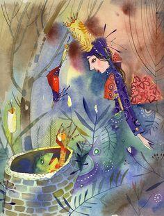Die Mooiste Sprokies van Grimm.Marita van der Vyver.Piet Grobler. Freelance Illustrator, Grimm, Childrens Books, Fairies, Watercolor Paintings, Fantasy Art, Fairy Tales, Whimsical, Van