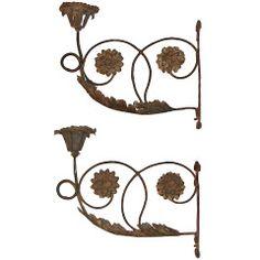 Pair of 18th Century Italian Zinc Sconces. 1stdibs.