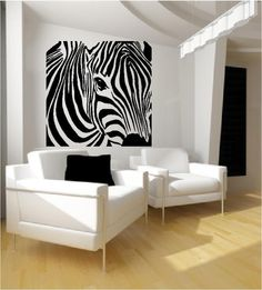 Zebra Wall Art zebra wall, oh so sexy. | design stuff | pinterest | walls, room