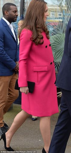 It is the second time that the Duchess has worn this Mulberry coat. The first was when the...
