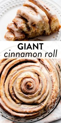 Learn how to make a GIANT cinnamon roll cake using an easy shortcut homemade cinnamon roll dough and swirling it into one large cake. Top with vanilla icing for a fun and indulgent breakfast and brunch. Recipe on sallysbakingaddiction.com #cakes #cinnamonrolls #baking #breakfast Fun Baking Recipes, Best Dessert Recipes, Brunch Recipes, Fun Desserts, Sweet Recipes, Delicious Desserts, Breakfast Recipes, Cooking Recipes, Yummy Food