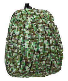 Another great find on #zulily! Green Digicamo Blok Backpack #zulilyfinds