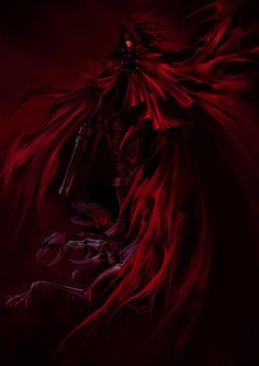 View an image titled 'Vincent Valentine Main Illustration' in our Dirge of Cerberus: Final Fantasy VII art gallery featuring official character designs, concept art, and promo pictures. Final Fantasy Artwork, Final Fantasy Characters, Final Fantasy Vii, Hellsing Alucard, Vincent Valentine, Cerberus, Valentines Art, Latest Hd Wallpapers, Fairy Art