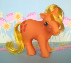 Vintage 1980s My Little Pony - Applejack, Earth Ponies Collection. $5.00, via Etsy.
