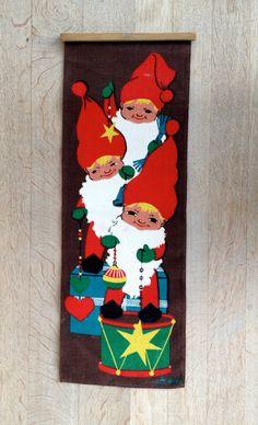 , Christmas Print, Christmas Items, Christmas Elf, Swedish Christmas, Scandinavian Christmas, Vintage Christmas, Elf Yourself, Bowl Designs, Textile Design