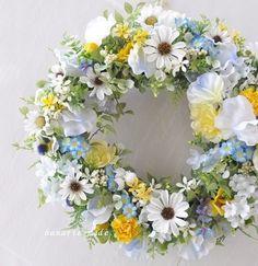 白いコスモス わすれな草をそっとそえて:wreath |フラワー・リース|はなりえmade|ハンドメイド通販・販売のCreema