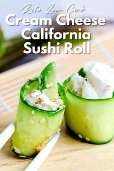 California sushi rolls are one of those dishes that look so innocent and delicious at first glance, but it's actually […] Asian Vegetables, Low Carb Vegetables, Cream Cheese Roll Up, Cream Cheese Recipes, Low Carb Keto, Low Carb Recipes, Healthy Recipes, Salad Recipes, Sushi Salad