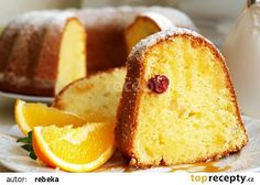 Curd cake with orange scent NejRecept. Czech Recipes, Ethnic Recipes, Bunt Cakes, Pound Cake, Kefir, Graham Crackers, Cheesecakes, Food Hacks, Cornbread