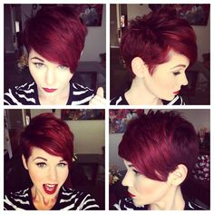 21 Daring Short Red Hair Color Ideas for 18 Short Red Haircuts Short Hair For Summer Winter. 21 Daring Short Red Hair Color Ideas For Short Asymmetrical Haircut, Short Pixie Haircuts, Pixie Hairstyles, Short Hairstyles For Women, Pretty Hairstyles, Red Pixie Haircut, Asymmetrical Hairstyles, Short Red Hair, Short Hair Cuts