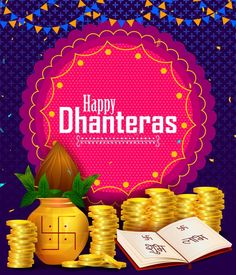 Happy Dhanteras Diwali Light Festival Of India Greeting Background Stock Vector - Illustration of auspicious, deepawali: 128940959 Happy Dhanteras Wishes, Happy Navratri Wishes, Diwali Lights, Diwali Greetings, New Background Images, Festivals Of India, Birthday, Frame, Illustration