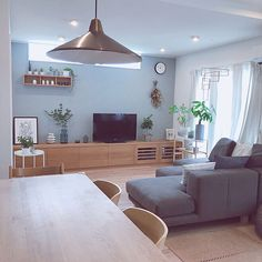 Muji Style, Living Room Paint, Home And Deco, Dining Bench, Beautiful Homes, Sweet Home, House Design, Wallpaper, Interior