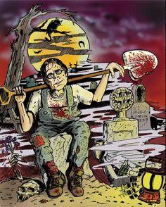 Stephen King by Ricardo Stephen King It, Castle Rock Stephen King, Steven King, Horror Icons, Horror Comics, Horror Films, Horror Art, Joe Hill Books, Creepy Horror