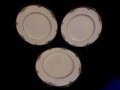 Noritake Fine China  Ontario Pattern Dinner Plates - 3  #3763  Floral Design #Noritake