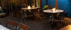 """Warm Up: 10 Portland Bars with Fireplaces. """"At EastBurn, you can have your own personal fire billowing away at one of their patio tables (1800 E Burnside)."""" Looks nice and toasty! 