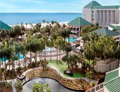 Your Guide to Brunch on Hilton Head Island | Hilton Head Island Hilton Head Island Hotels, Seafood House, Tropical Landscaping, Tropical Vibes, Cool Pools, Resort Spa, Outdoor Pool, East Coast, South Carolina