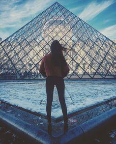 Snow @the Louvre #Paris