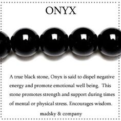 Black Onyx mala beads - just bought a heap of this stone...could benefit some of my students.