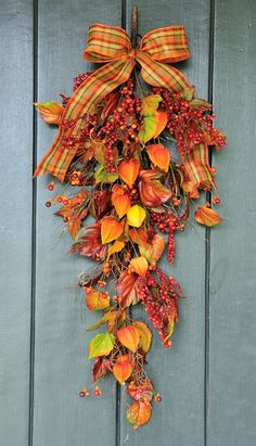 Autumn Sunset  Berry Leaf and Lantern Fall by WillowgaleDesigns, $44.99  #Autumn #Fall #Home #Decor