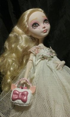 OOAK Ever After Monster High Apple White as Lamaroux Peep Artist Repaint By JSAL #Mattel