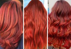 63 Hot Red Hair Color Shades to Dye for: Red Hair Dye Tips & Ideas Bright Red Hair Dye, Dyed Red Hair, Hair Color Dark, Dark Hair, Hair Colour, Dyed Tips, Hair Dye Tips, Crimson Red Hair, Red Hair Trends