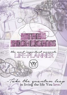 THE HIGHLIGHTS - Life-planner (Only now for free!) | YAY! by @ninayay - Gemstone, stone, crystal glass beaded jewelry for bohemian, hippie style lovers.