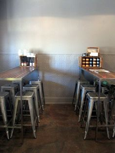 Prairie Hotel Project Using Ophir Pressed Tin Panels Interior Car Wash, Metal Wall Panel, Metal Panels, Cheap Doors, Pressed Metal, Modern Bar, Wall Treatments, Decorating Blogs, Home Renovation