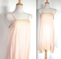 Vintage 1920's Dress Slip // 20s 30s Peachy by TrueValueVintage