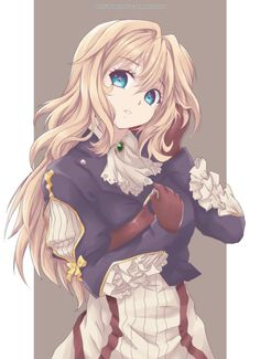 This anime has an excellent animation, and the design of Violet is beautiful Violet Evergarden Anime Chibi, Chica Anime Manga, Kawaii Anime Girl, Anime Art Girl, Anime Girls, Manga Girl, Blondes Anime Girl, Violet Evergreen, Violet Evergarden Anime