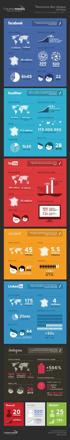 [INFOGRAPHIE Récap] : les statistiques majeures sur les réseaux sociaux en janvier 2013