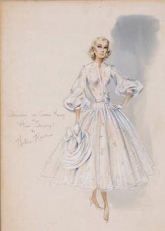 Diseño de vestuario por Helen Rose para Grace Kelly en High Society (1955).