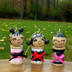 """Kokeshi Spool dolls  