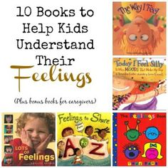 10 books to help kids understand their feelings. Includes 2 bonus books and a workbook for parents Feelings Book, Feelings And Emotions, Kindergarten Reading, Kids Reading, Reading Lists, Preschool Books, Book Activities, Best Children Books, Childrens Books