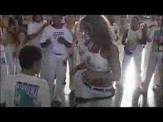 Capoeira samba; an effective dance move for the abs, hips, thighs.