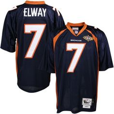 Mitchell & Ness Denver Broncos #7 John Elway Navy Blue Authentic Throwback Jersey