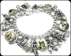 """My jewelry store features handmade jewelry, charm bracelets, necklaces, earrings, this wonderful """"Siren of the Sea"""" Mermaid charm bracelet, inspirational bracelets, Mother's bracelets, personalized je"""