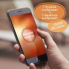1 Mobile WALLPAPER + 1 Desktop WALLPAPER. Instant download