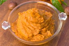 Chris Powell's Sweet Potato Pudding  for High Carb Day:  1 med sw. potato, 1/4 c Greek yogurt, cinnamon, cayenne.