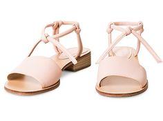 Oliver Bonas Leather Knot Sandals