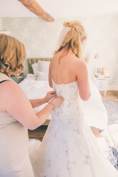 Blush Pink & Rose Gold Barn Wedding | Never need help to zip up or button again at http://www.zipmyself.com