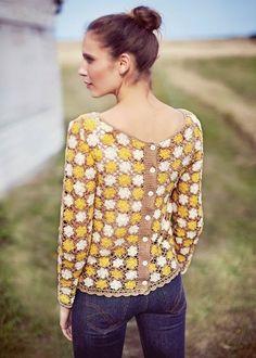 Crochetemoda: вязание крючком кофточки