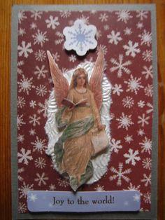Hand made Christmas card made by Ruskaterttu