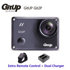 >> Click to Buy << Original Gitup Git2P Mini Sports Camera Action 16M Ultra 2K  Bike Helmet Video Camcorder DV+Wrist Remote Control+Dual Charger #Affiliate